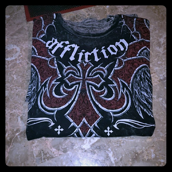 Affliction Other - Mens Affliction REVERSIBLE Graphic Tee